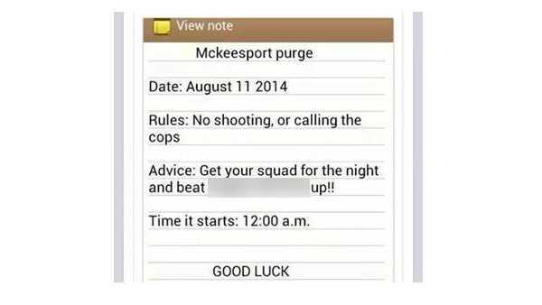 McKeesport purge