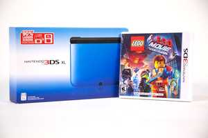 "Nintendo 3DS XL & ""Lego Movie"" game, courtesy of Kmart"