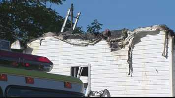 A mother and son were sleeping in their West Mifflin home Friday morning, when a neighbor spotted smoke and flames coming from the roof.