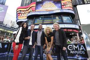 "The nominees for 48th Country Music Association Awards were announced live by Darius Rucker and the members of Little Big Town on ""Good Morning America,"" 9/3/14, airing on the Pittsburgh's WTAE Channel 4.. (ABC/Heidi Gutman)"