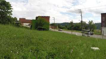 Across the street is an empty grassy space that seems ripe for development in Hazelwood.