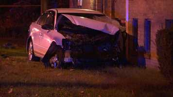 The crash happened around 1 a.m. on Brighton Road, as the driver was headed toward Marshall Avenue. It's unclear what caused him to lose control of his car.