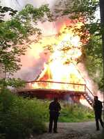 A witness shared this photo of the house fire on Rochester Road in Ross Township.