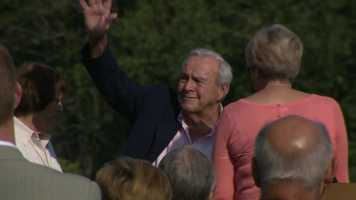 The ceremony was held on the same day Palmer celebrated his 85th birthday.