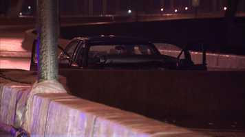 A 25-year-old woman died in a crash on the Birmingham Bridge.
