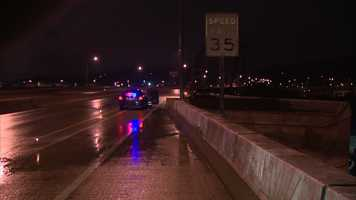 Police said the driver was headed the wrong way in the northbound lanes that carry traffic from the South Side toward Oakland.
