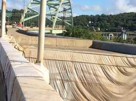 A Pittsburgh Public Safety spokeswoman said Jequayla Turner crashed into the barrier wall on an unfinished ramp on the Birmingham Bridge.