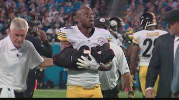 Cornerback Ike Taylor suffered a broken right forearm in the Steelers' victory over the Carolina Panthers.