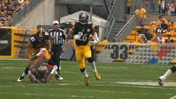 Le'Veon Bell had 109 total yards (63 rushing, 46 receiving).