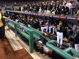 The Pirates dugout.
