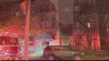 The fire scene at Rochelle Towers.