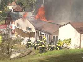 A house caught fire Tuesday morning on McPherson Avenue in Bethel Park.