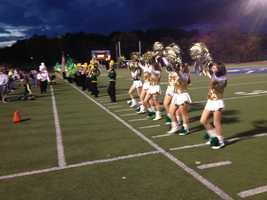 Seton-La Salle High School band and cheerleaders