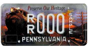 The Preserve Our Heritage plate became available in December 1998. From every plate sold, $15 will underwrite the Pennsylvania Historical and Museum Commission's educational and exhibit programs.