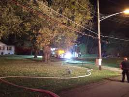 Firefighters battled flames from a home fire overnight along Elco Drive. Robinson Township. The home sustained severe damage to the back of the house. Fortunately, no one was hurt.