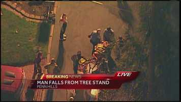 Sky 4 flew over the accident scene on Dalecrest Road.