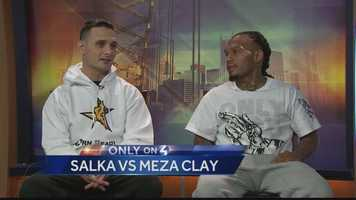 Pittsburgh's Action Sports Director Andrew Stockey was interviewing two local boxers, Salka and Meza Clay, who are scheduled for an upcoming fight, when during the interview, the two boxers began to argue and the situation got heated on the set at the WTAE Studios. || click here to watch the video