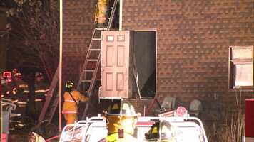 The fire happened on Walnut Street in Versailles.