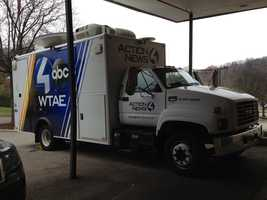 Packing up the WTAE Satellite truck for the trip to Nashville