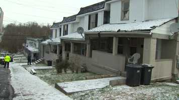 A collapsed ceiling forced the evacuation of four townhomes that will be condemned in Penn Hills.