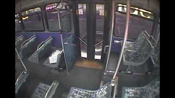 This surveillance image from a camera in Frauens' bus shows Maier's bus at a close distance next to his on I-79.