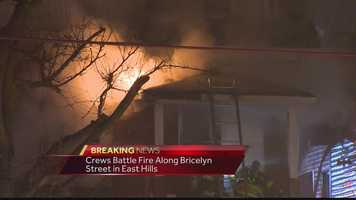 One woman has died in a home fire on Bricely Street in East Hills on Friday.