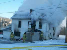 Fire crews battled morning home fire in Nicholson Township, Fayette County. No injuries have been reported where two adults and three children lived. Fayette County EMS providing a warm rehab center for first responders and those impacted by the fire.