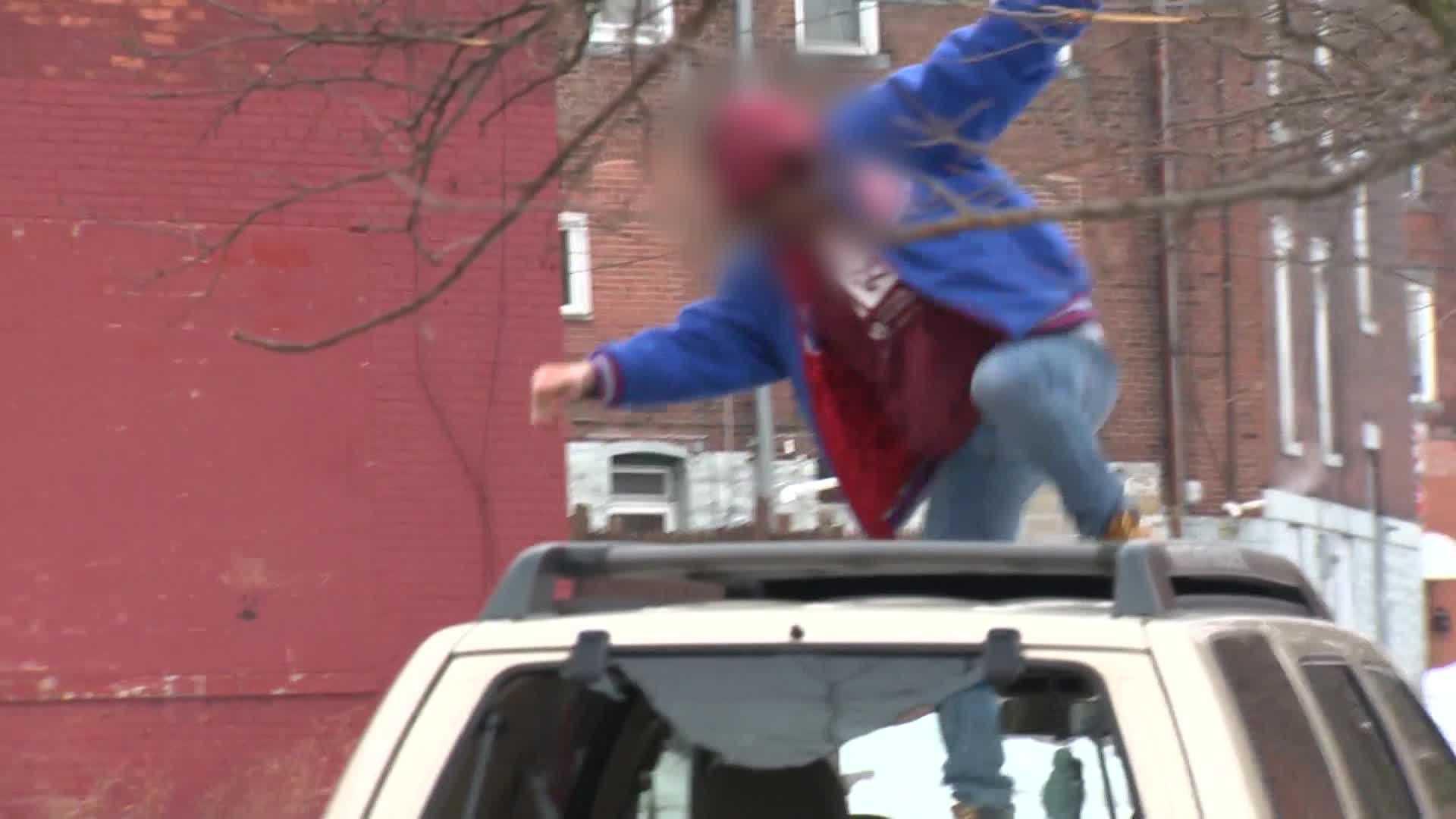 father kicks car - Dustin Moffat