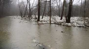 Mapletown Creek Road is Flooded Out
