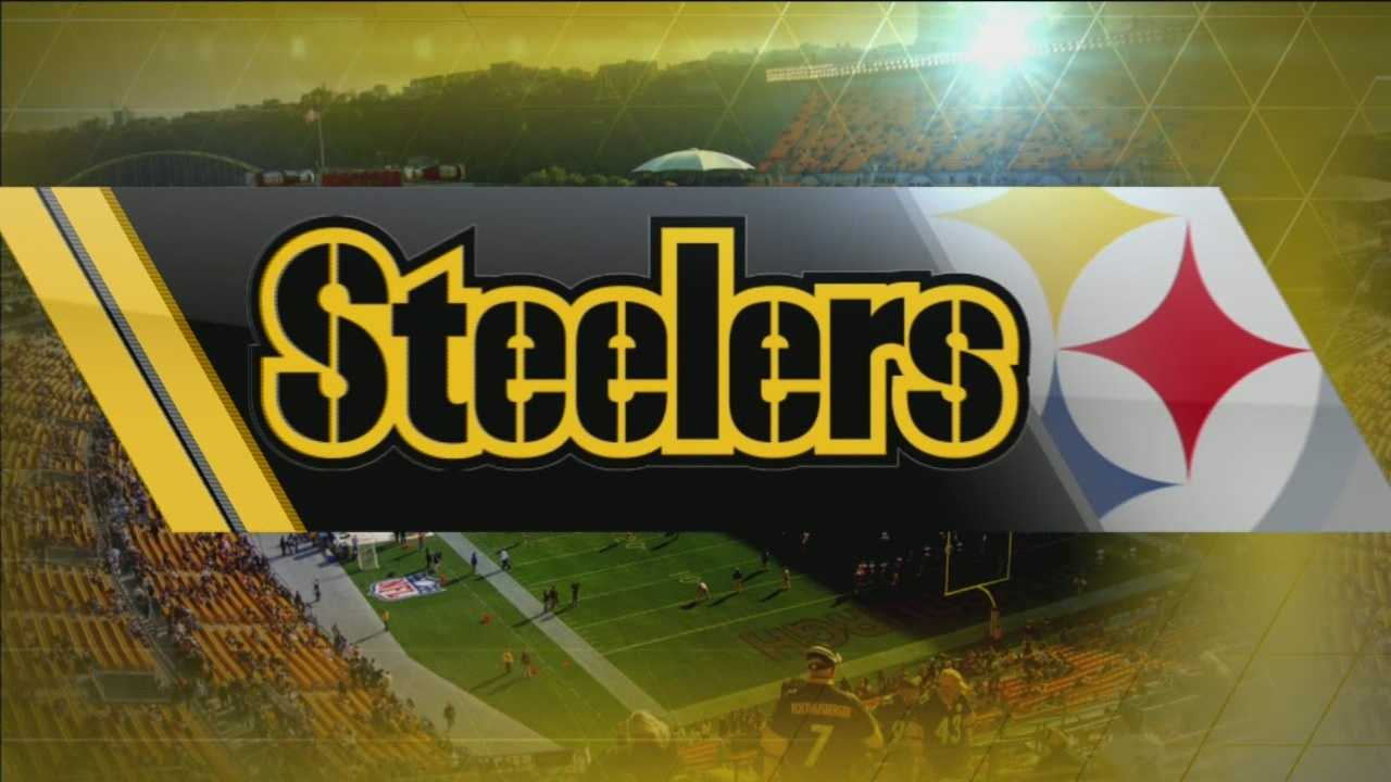 Steelers logo over stadium