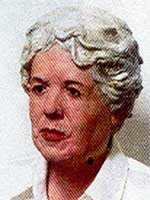 The FBI is offering a reward of up to $50,000 for information leading directly to the arrest and conviction of Elizabeth Anna Duke.This is an age-enhanced bust of Duke done in 2003.