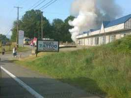 Fire on route 51 in Uniontown, PA methadone clinic
