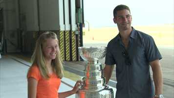 Saad's second trip back home with the Cup started with a visit to the 911th Airlift Wing.
