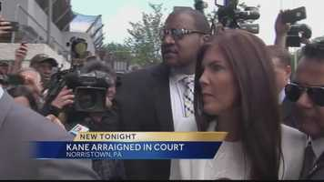 Attorney General Kathleen Kane arrives for her arraignment.