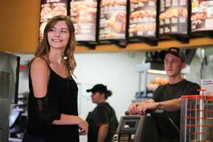 Brittany Creech, of St. Louis, told the Huffington Post, she posted a joke about taking her pictures at the fast food chain on Twitter then suddenly started taking the idea seriously. Brendan Batchelor Photography