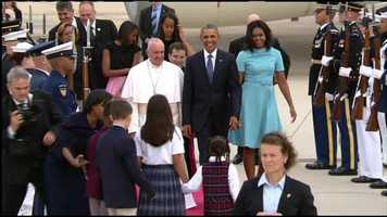 Pres. Obama will host a welcoming ceremony for Pope Francis on the South Lawn of the White House Wednesday.