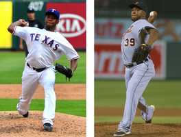 Neftali Feliz has pitched for Texas and Detroit.