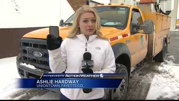 Thursday: Pittsburgh's Action News 4 reporter Ashlie Hardway headed to Uniontown, Fayette County, where the snow totals were expected to be some of the worst in the region, to see how PennDOT was preparing.