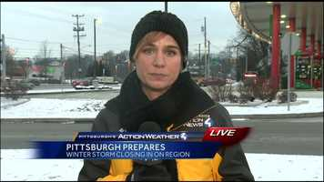 Thursday: Pittsburgh's Action News 4 reporter Marcie Cipriani spoke with Pittsburgh and Allegheny County officials on preparations for the Nor'easter snowfall.