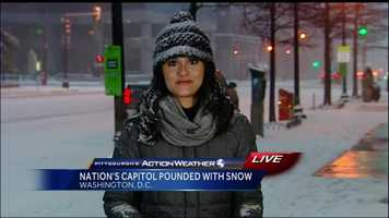 Friday: A live look at Reporter Aixa Diaz, who is in the nation's capital where crews are in the midst of blizzard preparations.