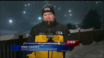 One of Chief Meterologist Mike Harvey's live reports from Seven Springs Resort in Somerset County