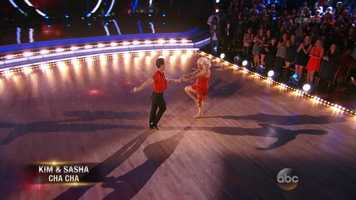 """They kicked off the night with the Cha Cha. Returning judge Len Goodman said, """"I liked the timing, I thought you were crisp and sharp."""""""