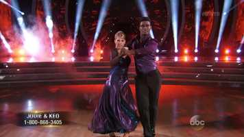 """The two danced the Tango to Demi Lovato's """"Confident."""" Len said the performance had spirit and attack. Carrie Ann called Sweetin's performance """"very impressive"""" but mentioned her awkward facial expression, which was a little distracting."""