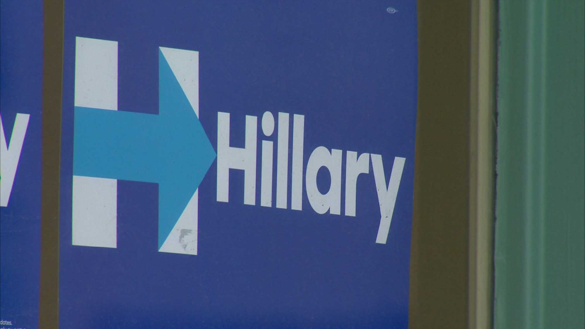 Hillary Clinton campaign sign