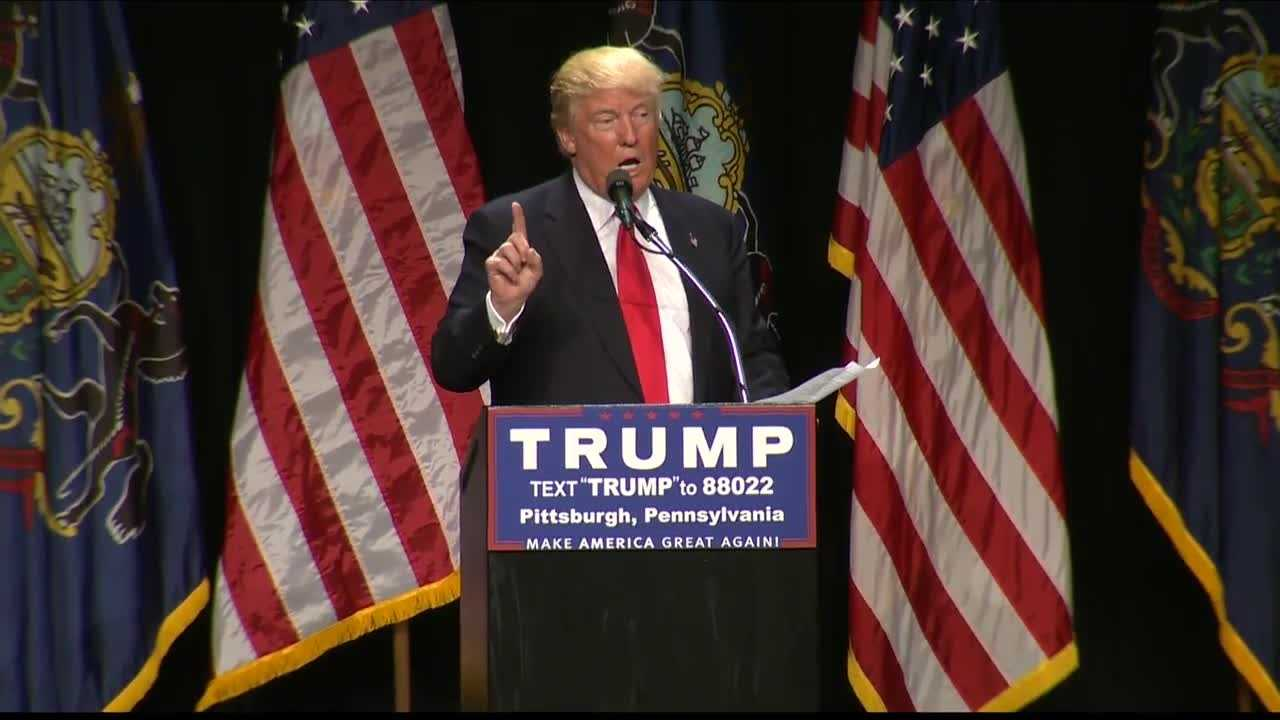 img-Trump brings promises to Pittsburgh