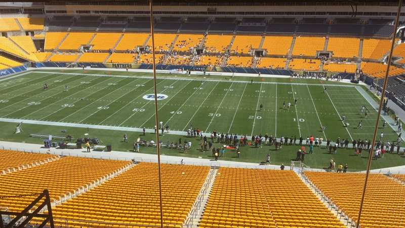Pitt football, Heinz Field view from box