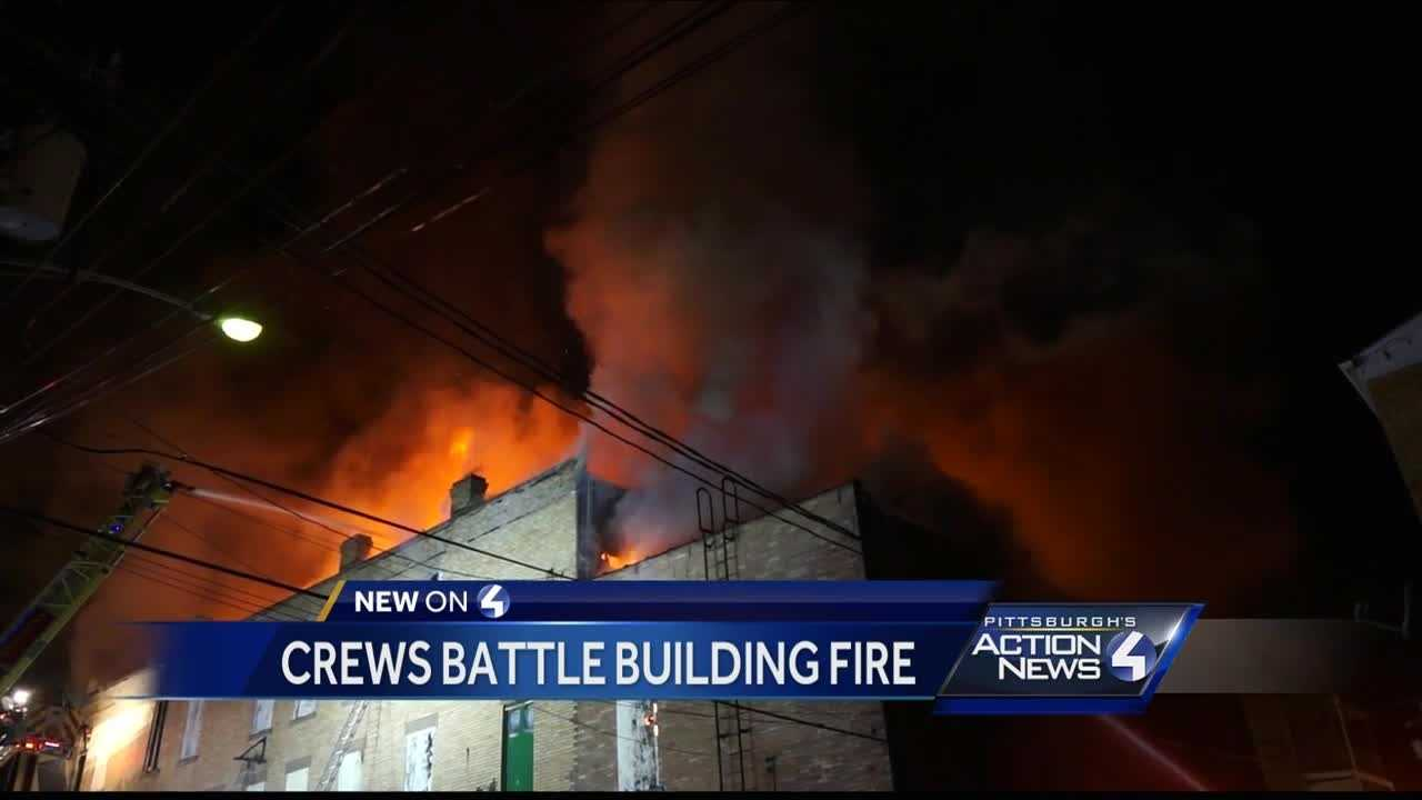 Firefighter injured when fire tears through Jeannette building