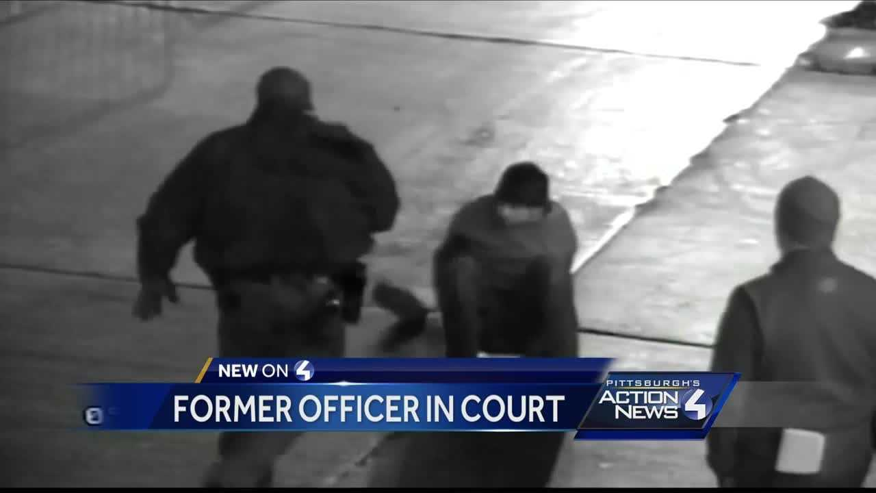 Fired Pittsburgh cop pleads not guilty to charges in violent Heinz Field arrest