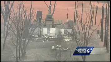 This house was destroyed when the natural gas explosion happened.