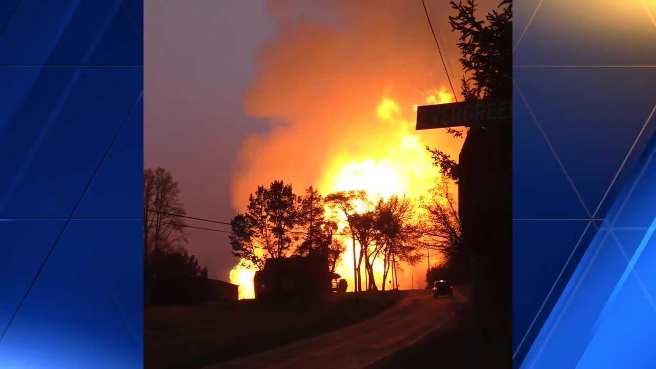 VIEWER VIDEO: Gas pipeline fire in Salem Tonwship up close